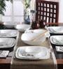 Square Round Livingware Twilight Grove Vitrelle Glass Dinner Set - Set of 21 by Corelle
