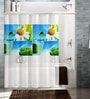 Multicolour Polyester Shower Curtain by Cortina