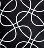 Cortina Black Polyester 16 x 16 Inch Abstract Cushion Cover
