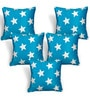 Cortina Blue Polyester 16 x 16 Inch Velvet Cushion Covers - Set of 5