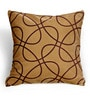 Cortina Brown Polyester 16 x 16 Inch Abstract Cushion Cover