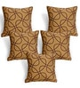 Cortina Brown Polyester 16 x 16 Inch Abstract Cushion Covers - Set of 5