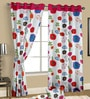 Multicolour Satin Nature & Florals Door Curtain - Set of 2 by Cortina