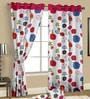 Cortina Multicolour Satin Nature & Florals Door Curtain - Set of 2