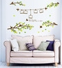 PVC Vinyl Leaf with Birds Theme Wall Sticker by Cortina