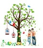 PVC Vinyl Gorgeous Tree with Green Leaves Multi Theme Wall Sticker by Cortina