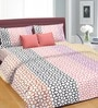 Cortina Coral Cotton Floral Double 100 x 90 Inch Bed Sheet (with Pillow Covers)