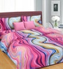 Cortina Pink Cotton Floral Double Bed Sheet Set (with Pillow Covers)