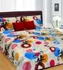 Cortina Red Cotton Abstract 100 x 90 Inch Bed Sheet (with Pillow Covers)