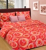 Cortina Coral Cotton Circular 100 x 90 Inch Bed Sheet (with Pillow Covers)