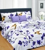 Cortina Multicolour Satin Floral 100 X 90 Inch Bed Sheet (With Pillow Covers)