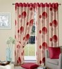 Cortina Multicolour Polyester Round Geometric Window Curtain- Set of 2