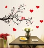 Cortina PVC Vinyl Love Bird Romantic Theme Wall Sticker
