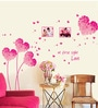 Cortina Vinyl Beautiful Pink Hearts Wall Sticker