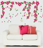 Cortina Vinyl Pink Flowers with Butterflies Theme Wall Sticker