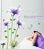Cortina Vinyl Violet Flower Theme Wall Sticker
