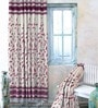 Purple Jacquard Premium Door Curtain- Set of 2 by Cortina