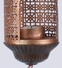 Copper Iron Amba Antique Hanging Tea Light Holder by Courtyard