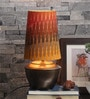 Patola Gold Antique Table Lamp With Multi Color Shade by Courtyard