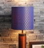 Banarasi Blue Fabric Lamp Shade by Courtyard