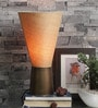 Amroha Antique Table Lamp With Ocher Shade by Courtyard
