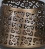 Brown Iron Jaipuri Votive Antique Tea Light Holder by Courtyard