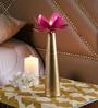 Gold & Pink Iron Lotus Large Tea Light Holder by Courtyard