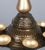 Golden Iron Mahabalipuram Antique Tea Light Holder by Courtyard
