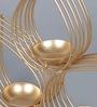 Courtyard Golden Iron Vrindavan Table Tea Light Holder