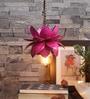 Kamalam Pink Ceramic Hanging Lamp by Courtyard