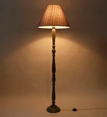 Blue Fabric Floor Lamp