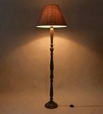 Brown Fabric Floor Lamp