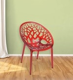 Crystal Designer Chair in Wine Colour