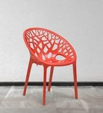 Crystal Polypropylene Chair in Bright Red Colour