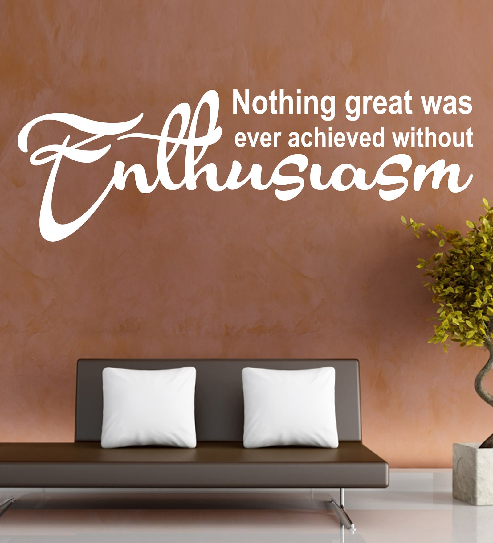 Vinyl Enthusiasm Two Wall Sticker in White by Creative Width