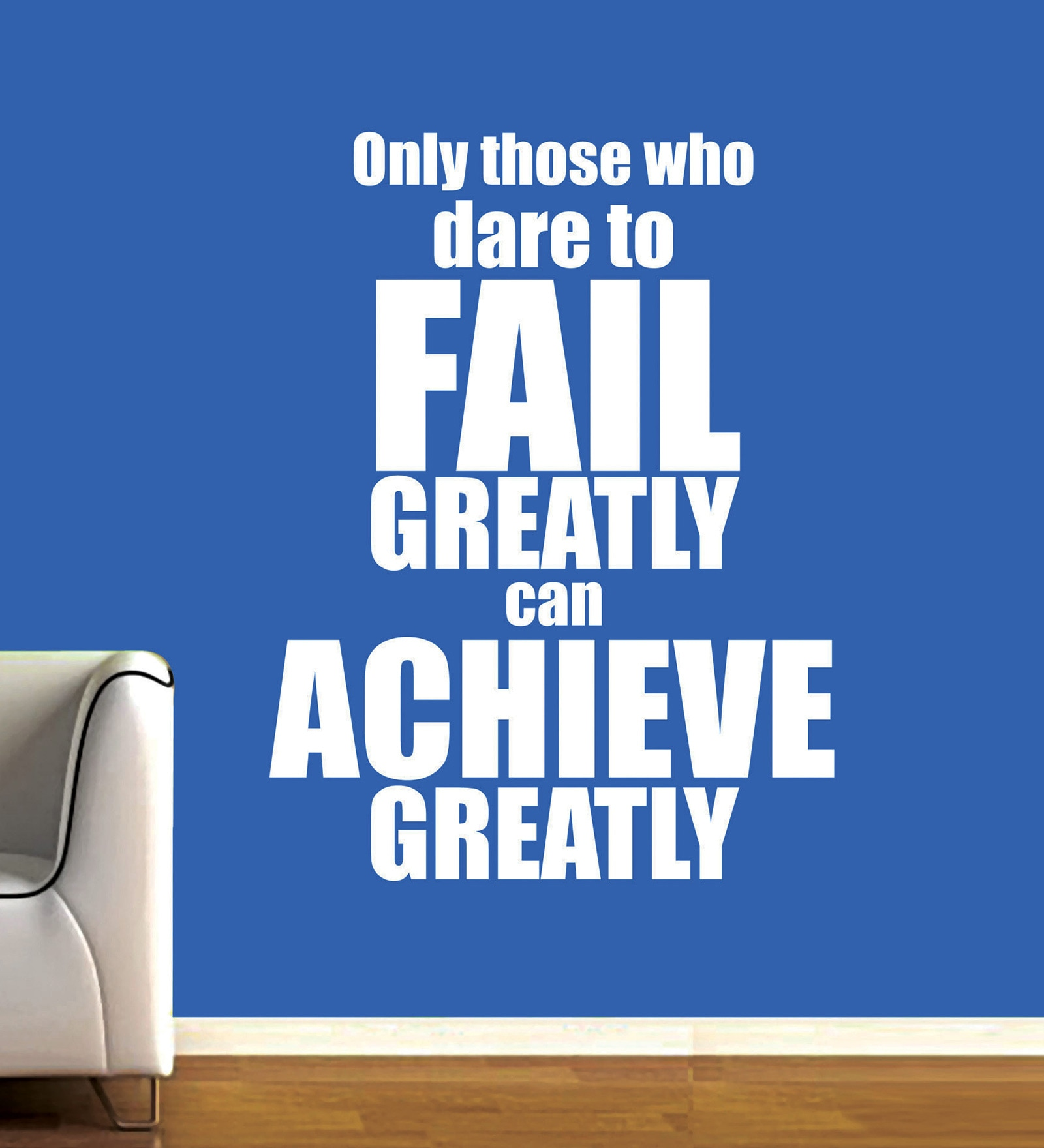 Vinyl Failure And Achievement Three Wall Sticker in White by Creative Width