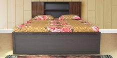 Crysler King Size Bed with Jumbo Drawer Storage in Wenge Finish