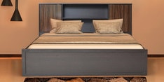Crysler King Size Bed with Storage in Wenge Finish