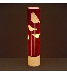 Craftter Red & White Abstract Bird Floor Lamp