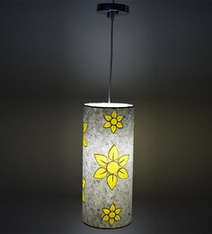 Craftter Abstract Flower Yellow & White Hanging Lamp