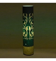 Craftter Flower Of Rounds Turquoise Textured Floor Lamp