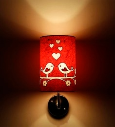 Craftter Love Birds Upward Orange & White Wall Lamp