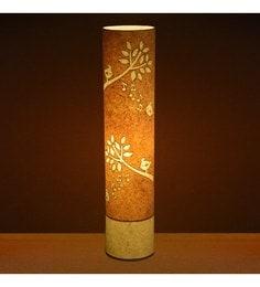 Craftter Singing Bird Yellow Textured Floor Lamp