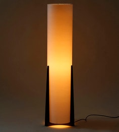 Buy Yellow Fabric Floor Lamp by Craftter Online - Contemporary ...