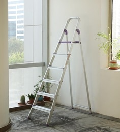 Crust Purple Aluminium 6 Steps 6.4 Ft Ladder