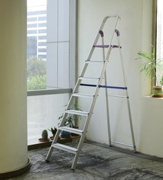 Crust Purple Aluminium 7 Steps 7.3 Ft Ladder