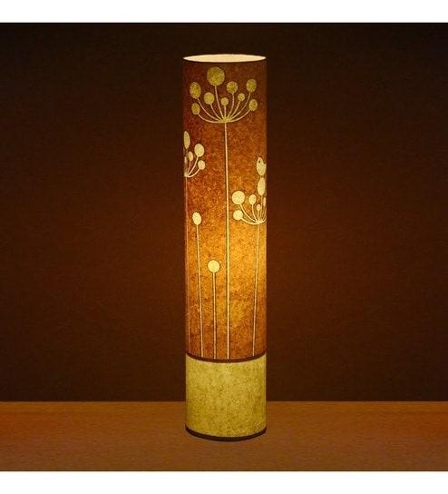Craftter Flower Of Rounds Yellow Textured Floor Lamp