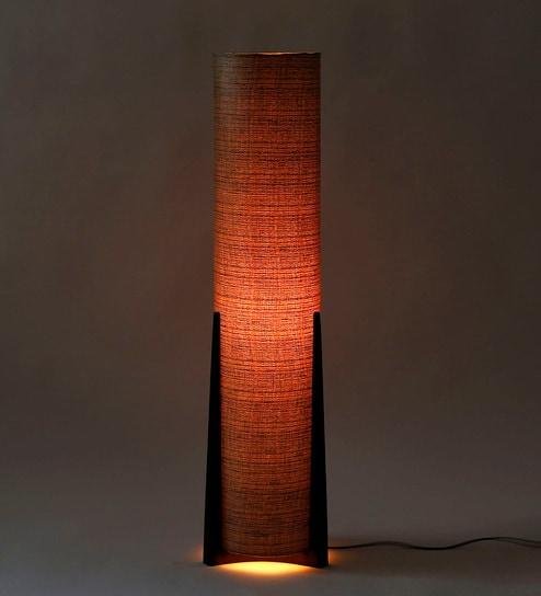 Buy Grey Fabric Floor Lamp by Craftter Online - Contemporary Floor ...