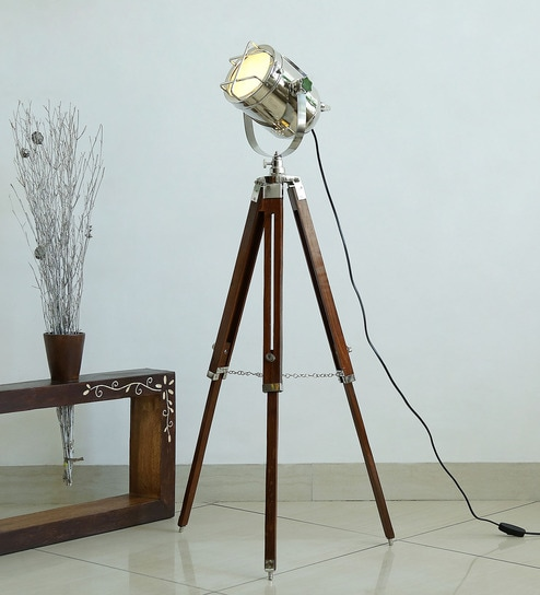 Buy silver metal glossy finish tripod floor lamp by craftter online silver metal glossy finish tripod floor lamp by craftter mozeypictures Choice Image