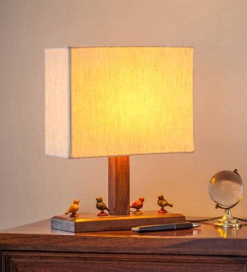 Buy cream cotton table lamp by exclusivelane online contemporary cream cotton table lamp by exclusivelane aloadofball Choice Image